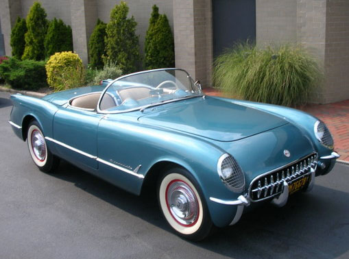 1954 CHEVROLET CORVETTE CONVERTIBLE - Front 3/4 - 96572