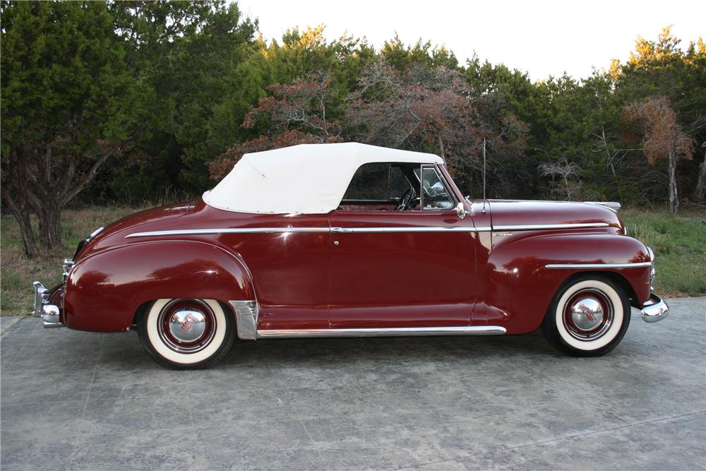 1948 PLYMOUTH SUPER DELUXE CONVERTIBLE - Side Profile - 96578
