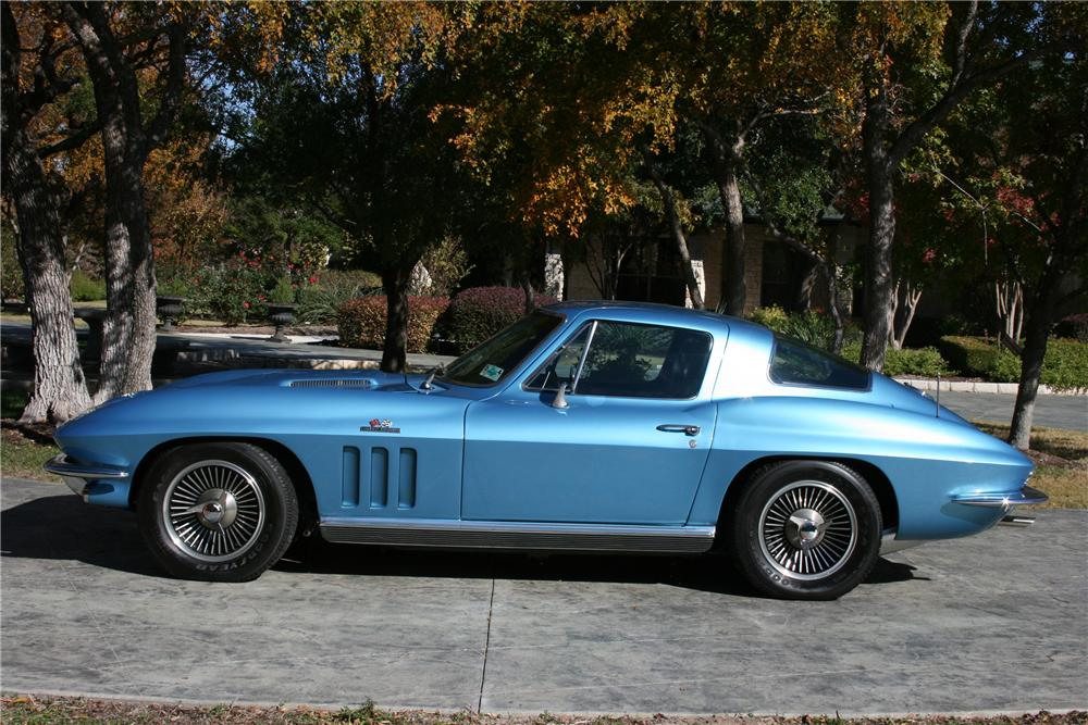1966 CHEVROLET CORVETTE COUPE - Side Profile - 96580