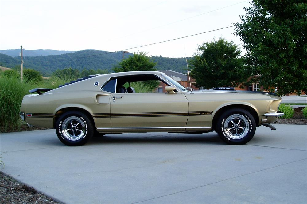 "1969 FORD MUSTANG 428 CJ ""R"" FASTBACK - Side Profile - 96593"