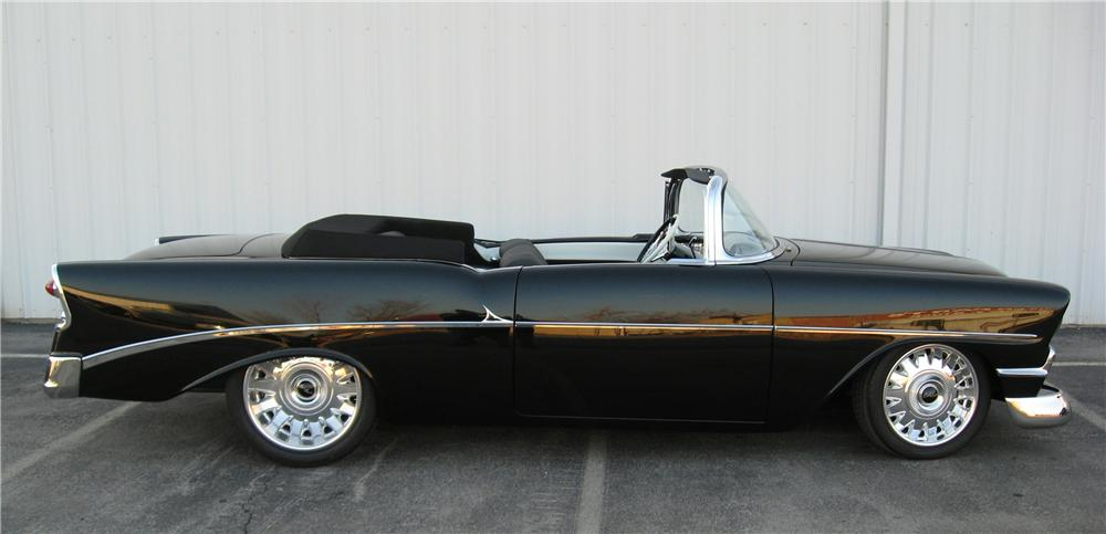 1956 CHEVROLET BEL AIR CUSTOM CONVERTIBLE - Side Profile - 96599