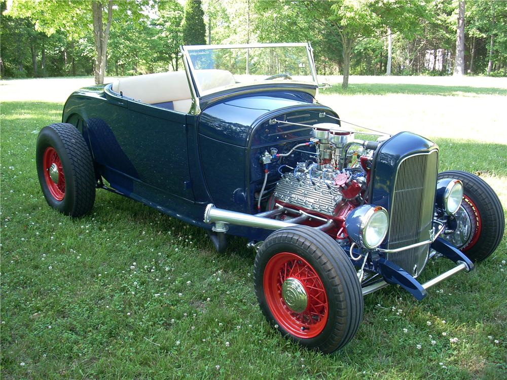 1929 FORD HI-BOY CUSTOM ROADSTER - Side Profile - 96606