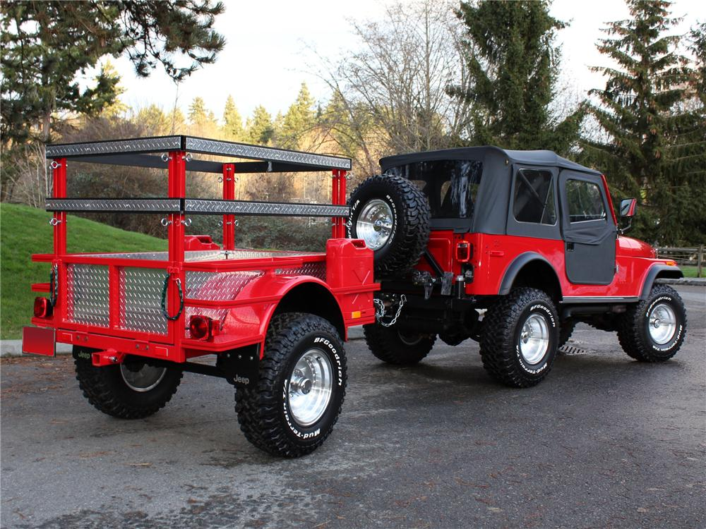 1980 JEEP CJ-7 CUSTOM SUV - Rear 3/4 - 96642