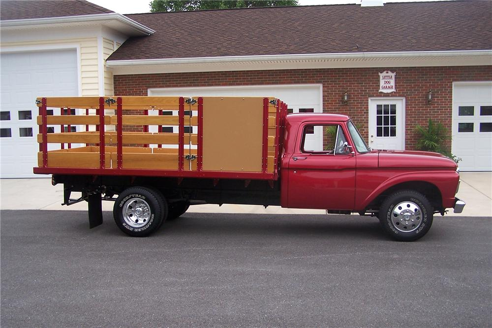 1966 FORD F-350 STAKE TRUCK - Side Profile - 96647