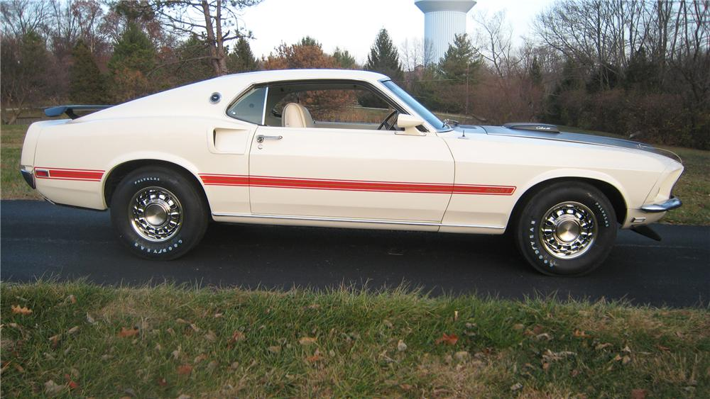 "1969 FORD MUSTANG 428 CJ ""R"" FASTBACK - Side Profile - 96649"