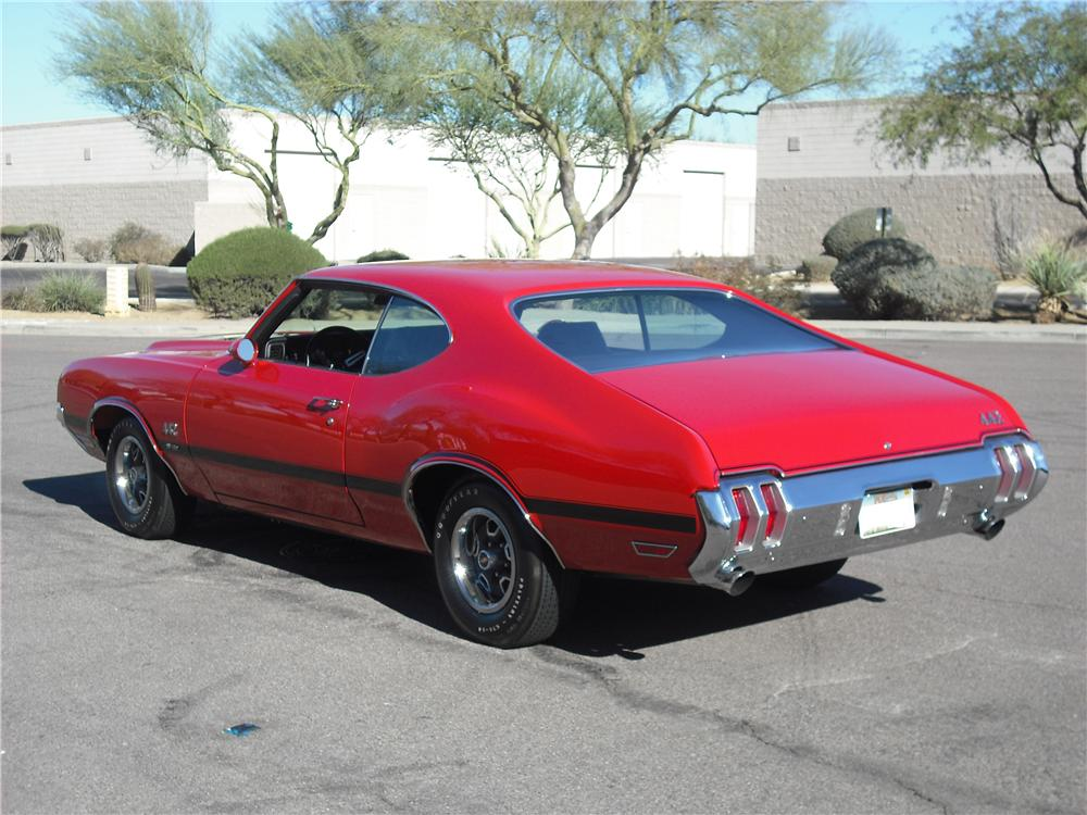 1970 OLDSMOBILE 442 W30 2 DOOR HARDTOP - Rear 3/4 - 96650