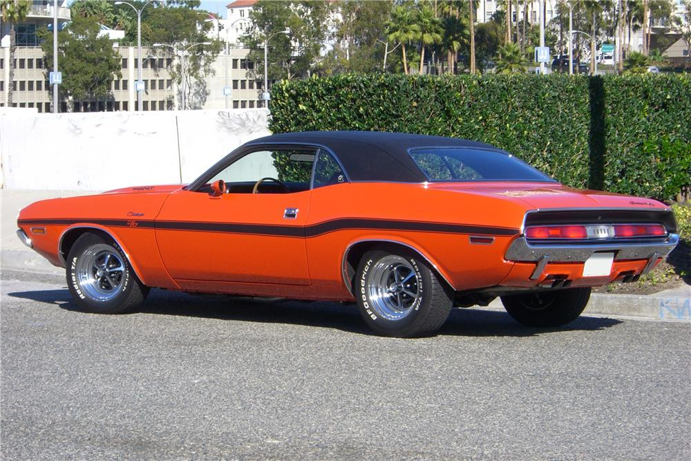 1970 DODGE CHALLENGER R/T COUPE - Rear 3/4 - 96652