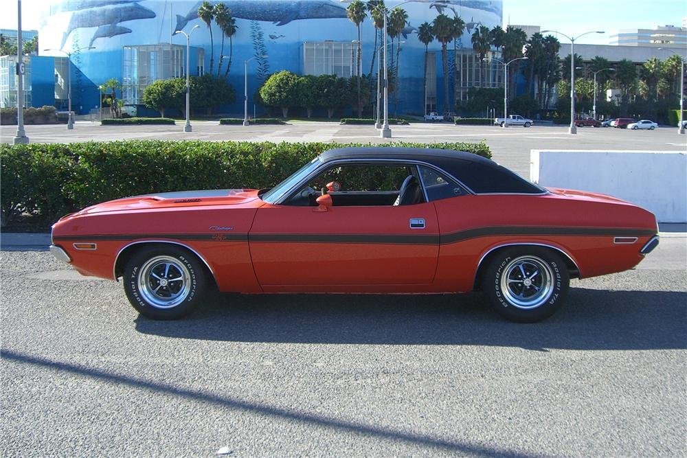 1970 DODGE CHALLENGER R/T COUPE - Side Profile - 96652