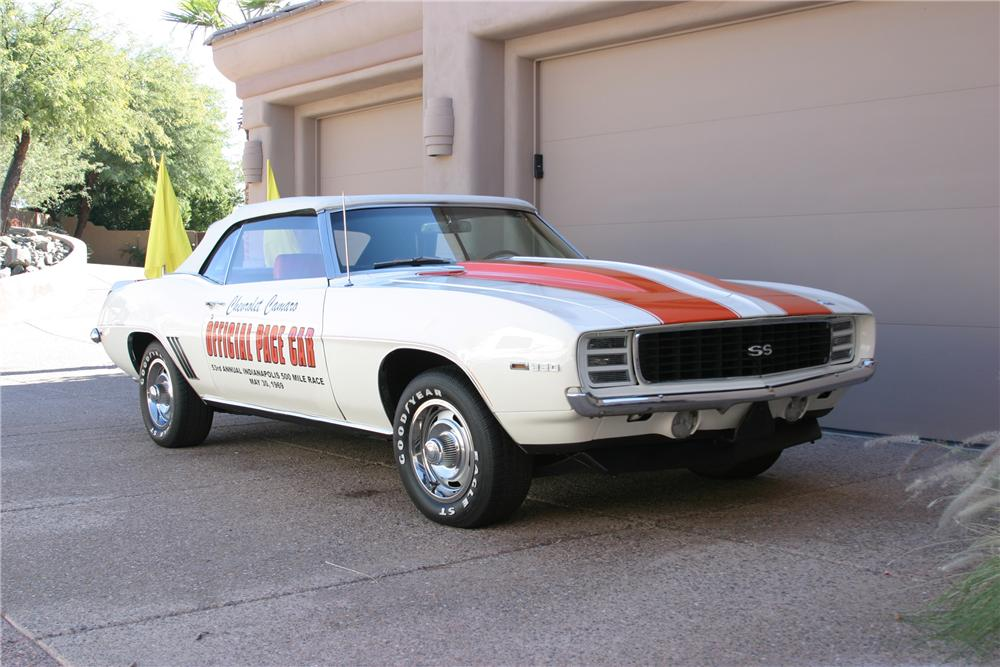 1969 CHEVROLET CAMARO INDY PACE CAR CONVERTIBLE - Front 3/4 - 96658