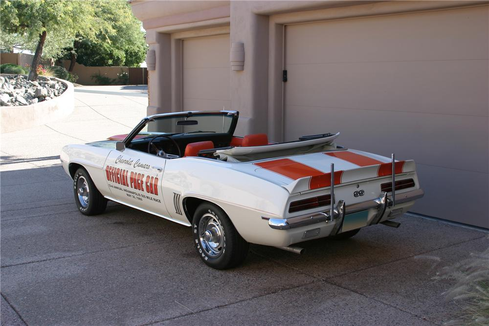 1969 CHEVROLET CAMARO INDY PACE CAR CONVERTIBLE - Rear 3/4 - 96658