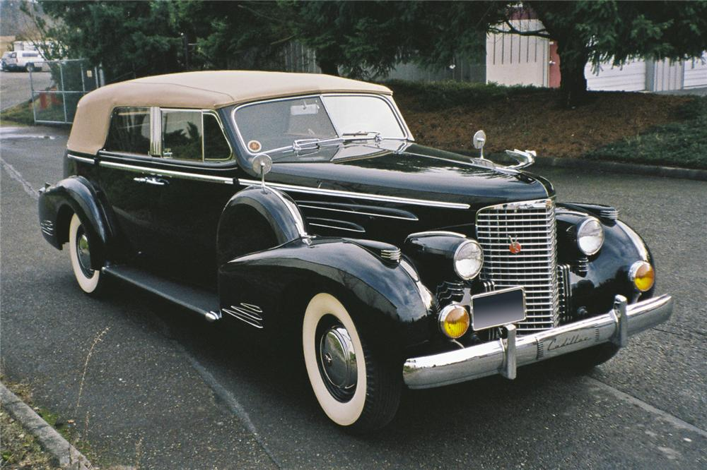 1938 CADILLAC SERIES 90 4 DOOR CONVERTIBLE - Front 3/4 - 96683