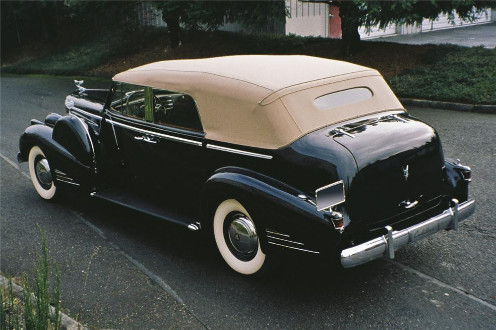 1938 CADILLAC SERIES 90 4 DOOR CONVERTIBLE - Rear 3/4 - 96683