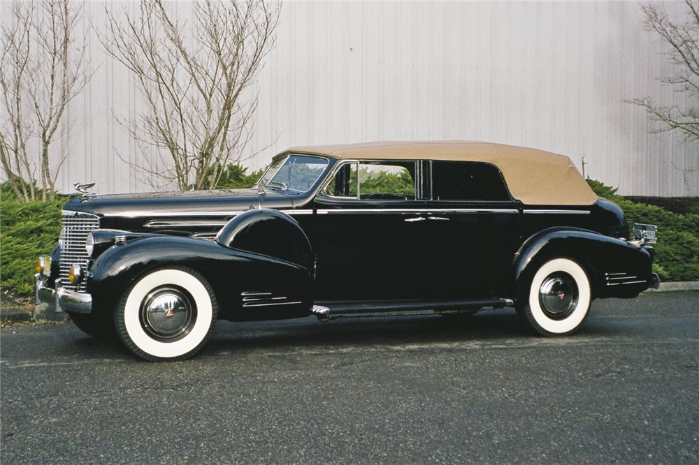1938 CADILLAC SERIES 90 4 DOOR CONVERTIBLE - Side Profile - 96683