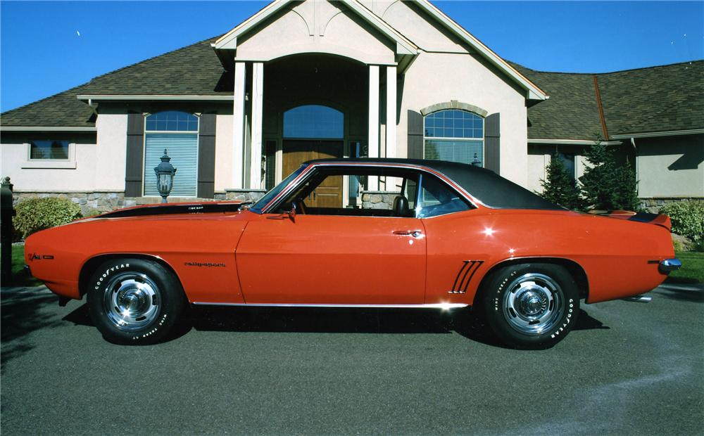 1969 CHEVROLET CAMARO Z/28 COUPE - Side Profile - 96689
