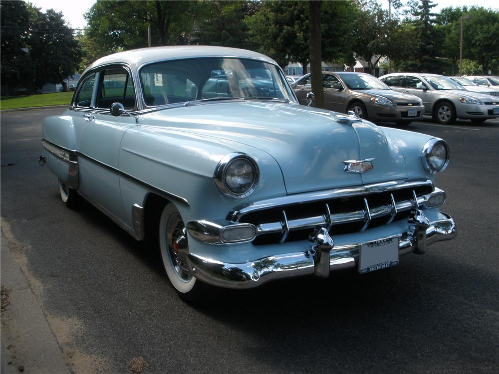 1954 CHEVROLET BEL AIR 2 DOOR SEDAN - Front 3/4 - 96690