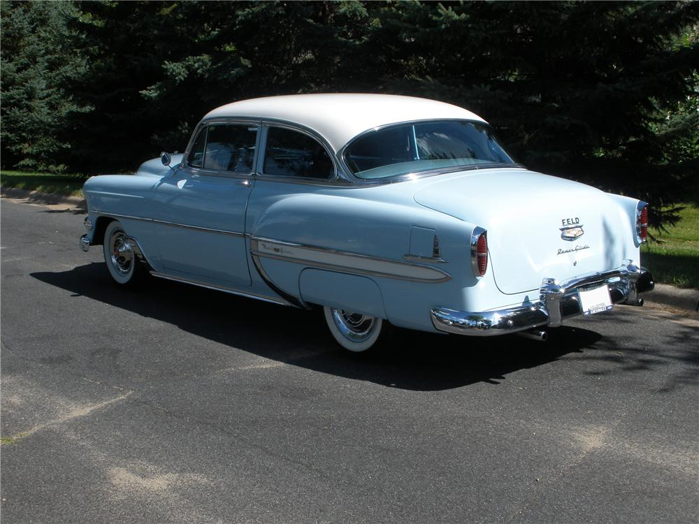 1954 CHEVROLET BEL AIR 2 DOOR SEDAN - Rear 3/4 - 96690