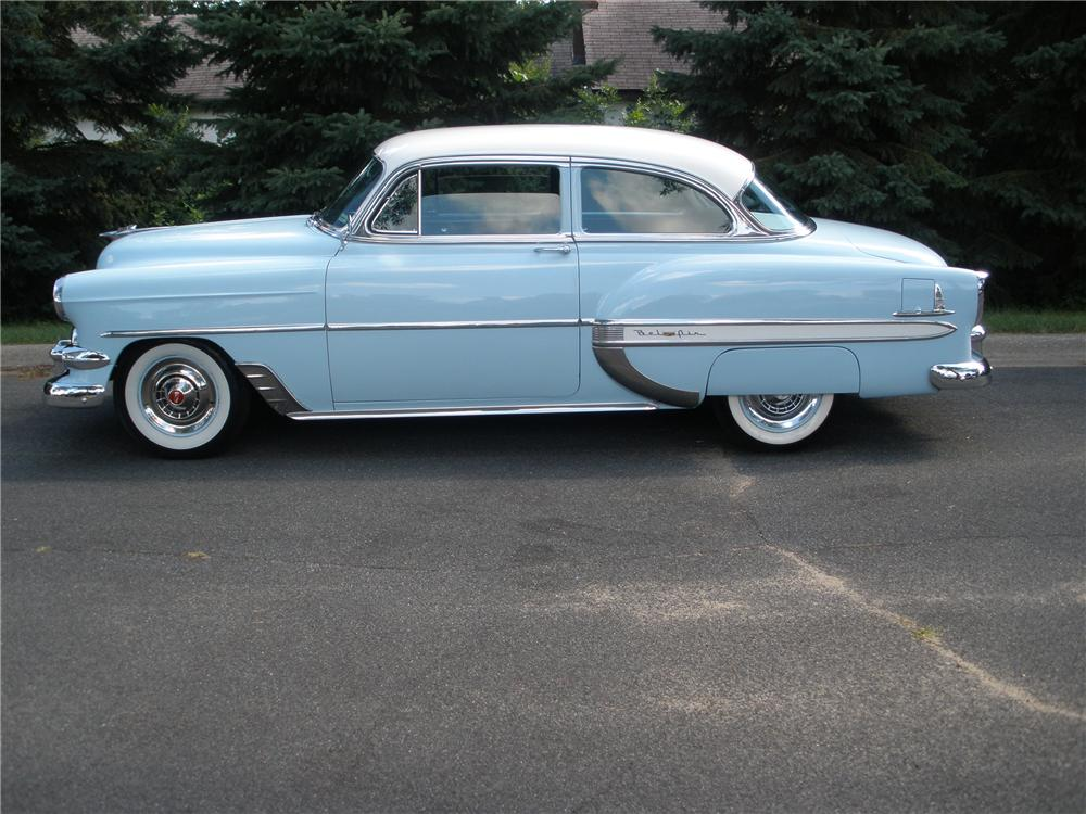 1954 CHEVROLET BEL AIR 2 DOOR SEDAN - Side Profile - 96690
