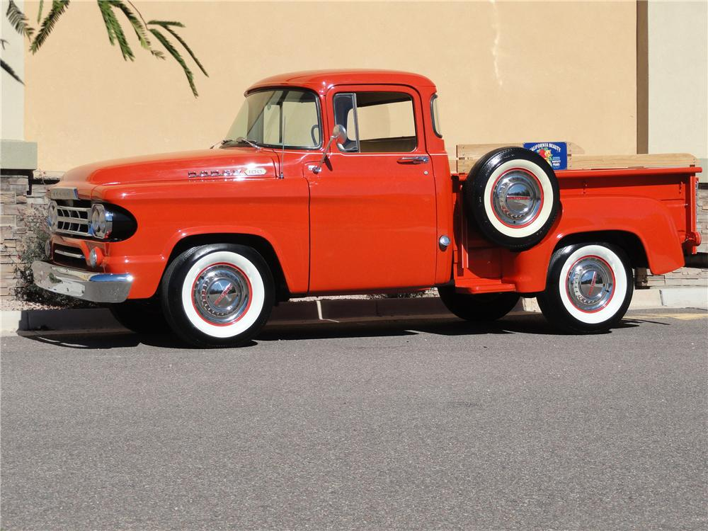 1960 DODGE PICKUP - Side Profile - 96691