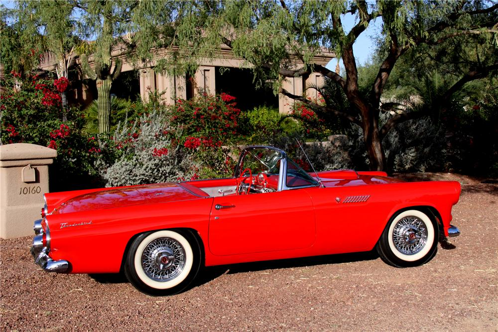 1955 FORD THUNDERBIRD CONVERTIBLE - Side Profile - 96707