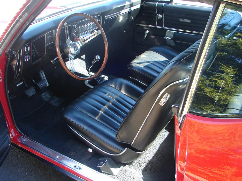 1968 CHEVROLET CHEVELLE SS 396 COUPE - Interior - 96730