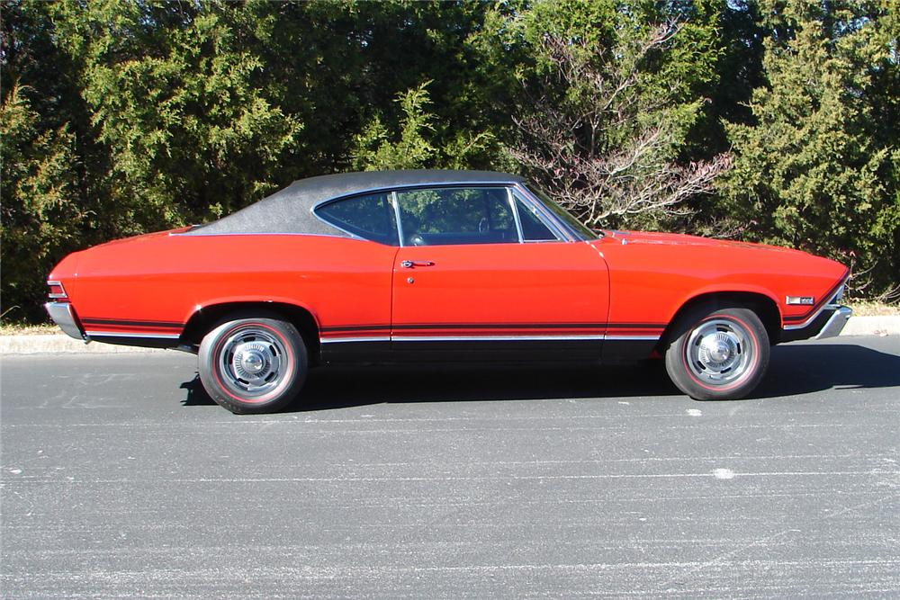 1968 CHEVROLET CHEVELLE SS 396 COUPE - Side Profile - 96730