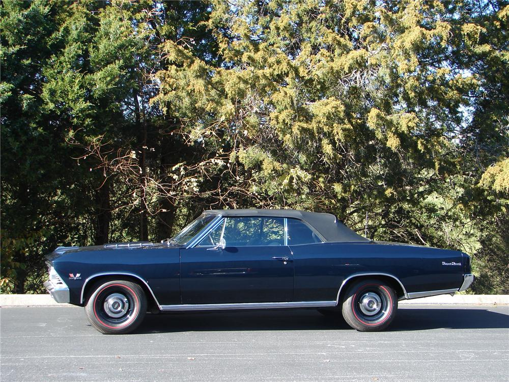 1966 CHEVROLET CHEVELLE SS 396 CONVERTIBLE - Side Profile - 96734