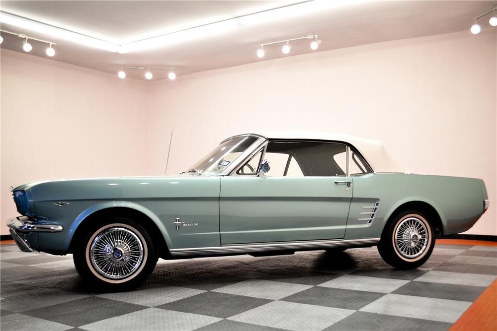 1966 FORD MUSTANG CONVERTIBLE - Side Profile - 96736