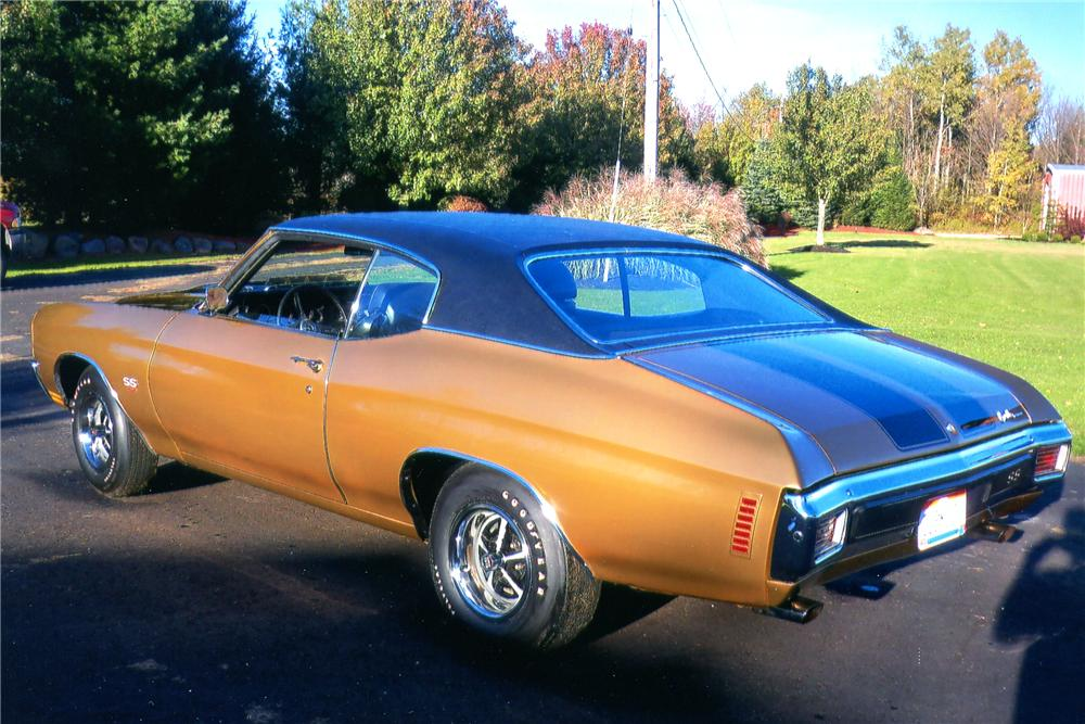 1970 CHEVROLET CHEVELLE 2 DOOR COUPE - Rear 3/4 - 96738