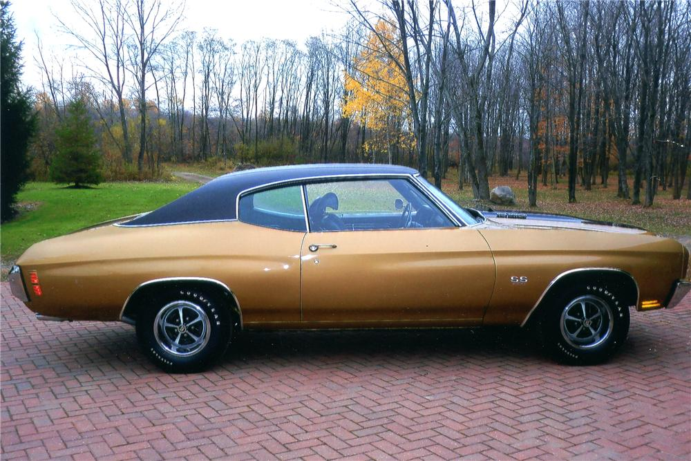 1970 CHEVROLET CHEVELLE 2 DOOR COUPE - Side Profile - 96738