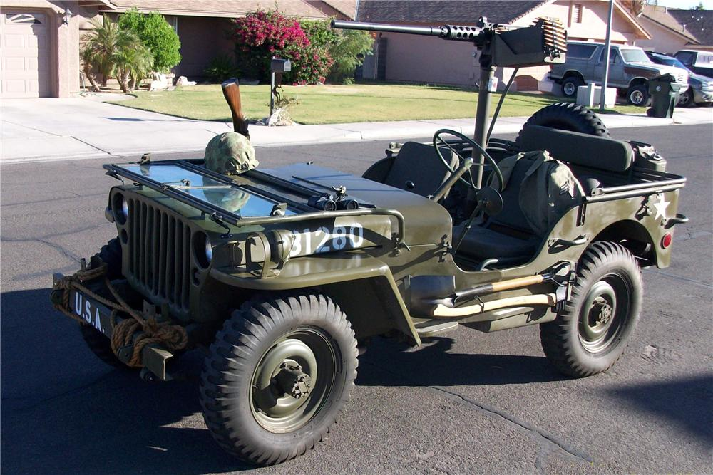 1945 WILLYS MILITARY JEEP  - Front 3/4 - 96748