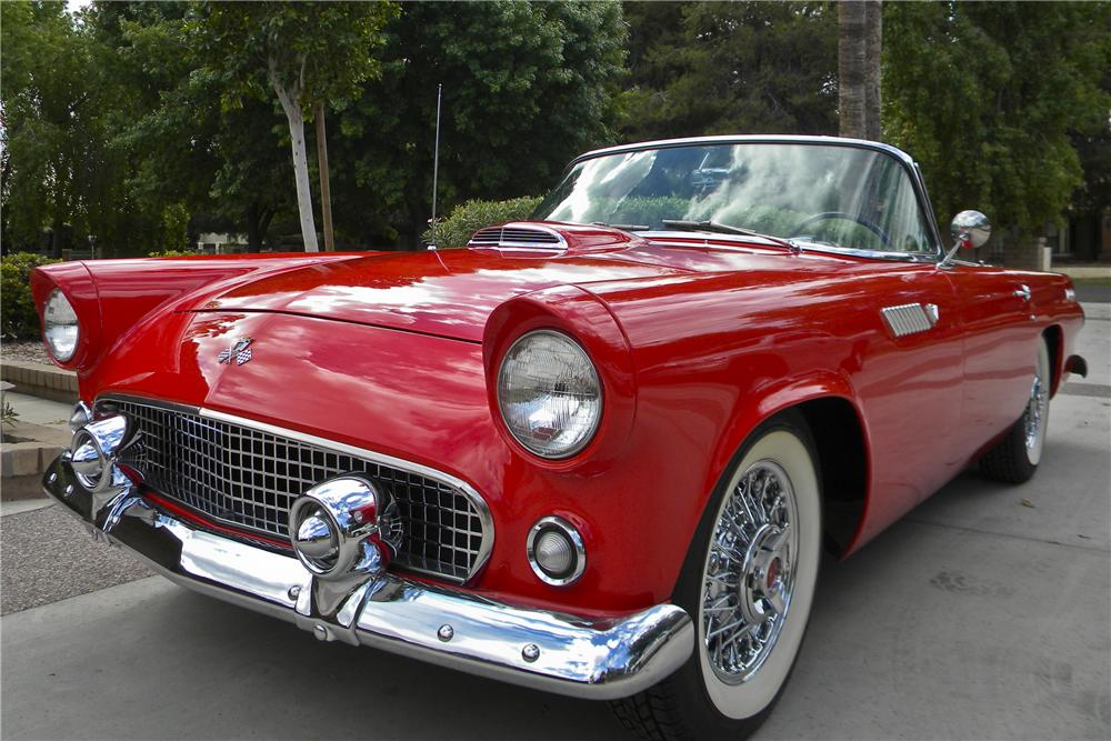1955 FORD THUNDERBIRD CONVERTIBLE - Front 3/4 - 96755