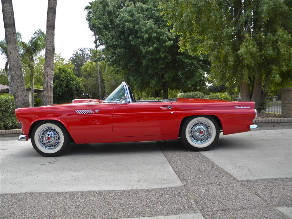1955 FORD THUNDERBIRD CONVERTIBLE - Side Profile - 96755