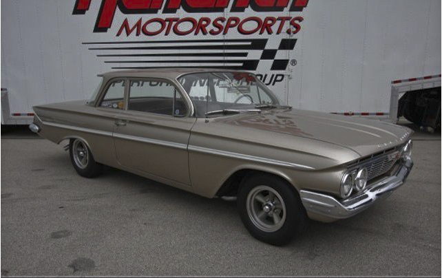 1961 CHEVROLET BEL AIR CUSTOM 2 DOOR SEDAN - Side Profile - 96779