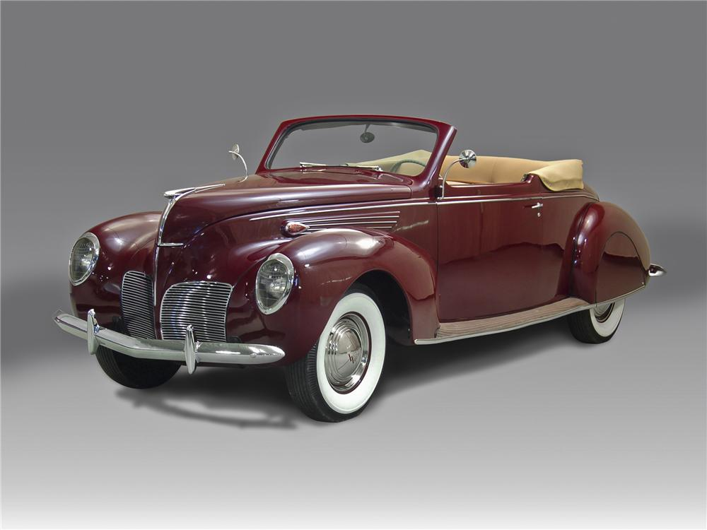 1938 LINCOLN ZEPHYR CONVERTIBLE - Front 3/4 - 96789