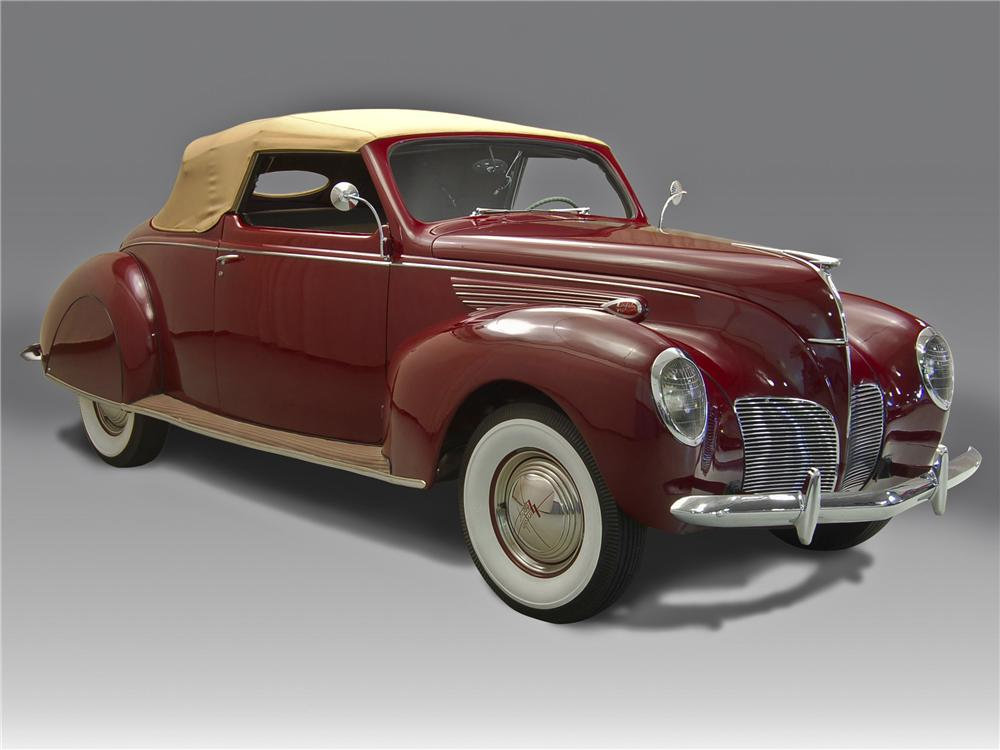 1938 LINCOLN ZEPHYR CONVERTIBLE - Side Profile - 96789
