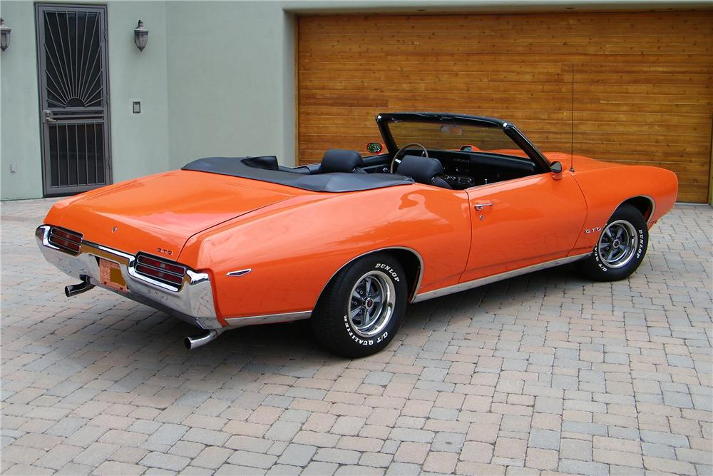 1969 PONTIAC GTO CONVERTIBLE - Rear 3/4 - 96799