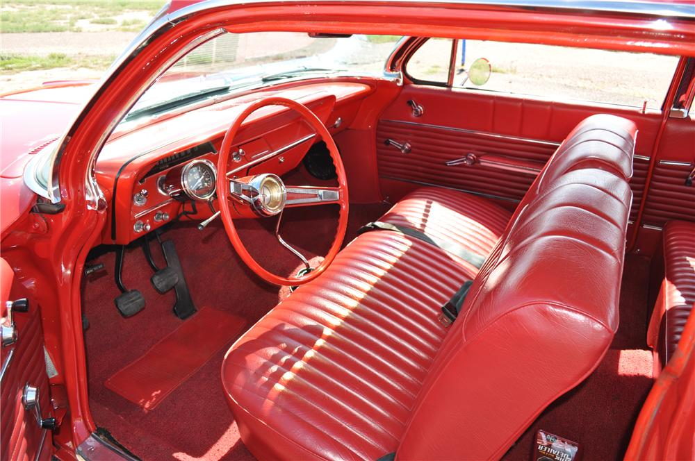 1962 CHEVROLET BEL AIR 2 DOOR COUPE - Interior - 96805