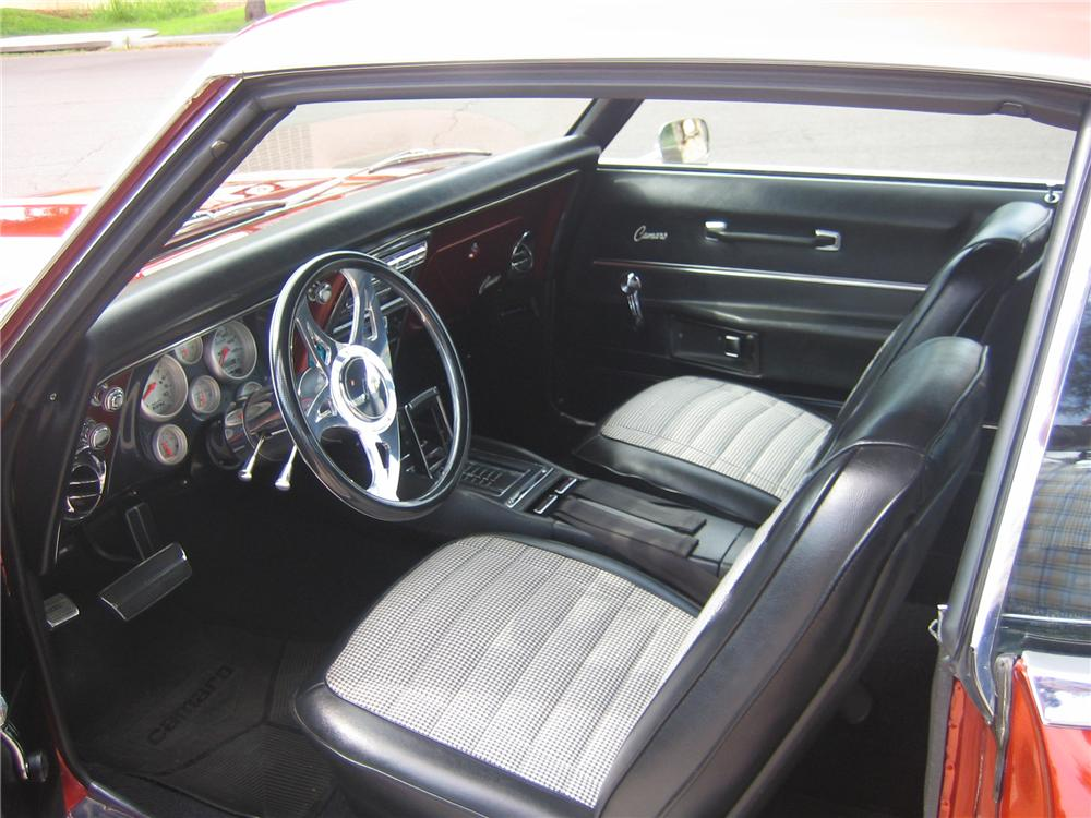 1968 CHEVROLET CAMARO CUSTOM COUPE - Interior - 96807