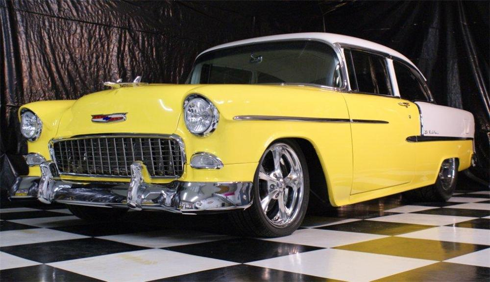1955 CHEVROLET BEL AIR CUSTOM SEDAN - Front 3/4 - 96815