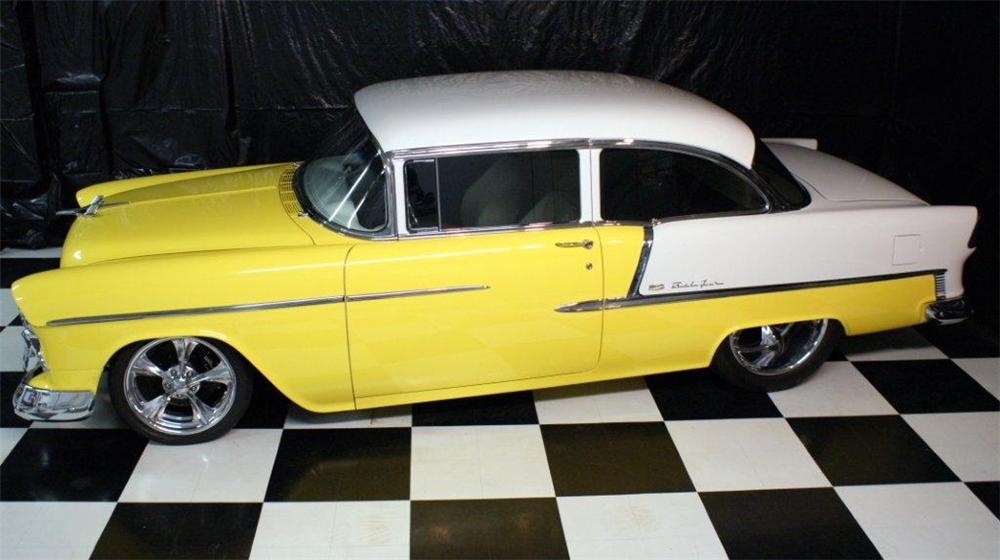 1955 CHEVROLET BEL AIR CUSTOM SEDAN - Side Profile - 96815