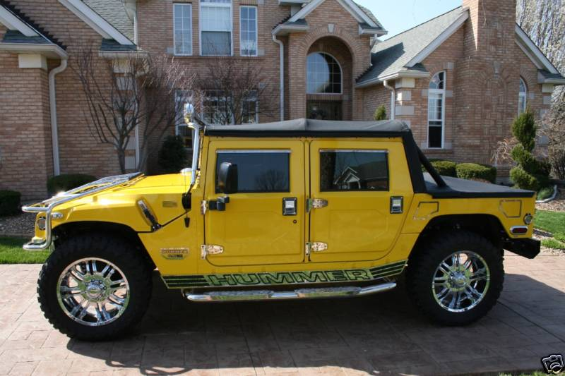 1997 AM GENERAL HUMMER CUSTOM 4 DOOR SOFTTOP - Side Profile - 96839