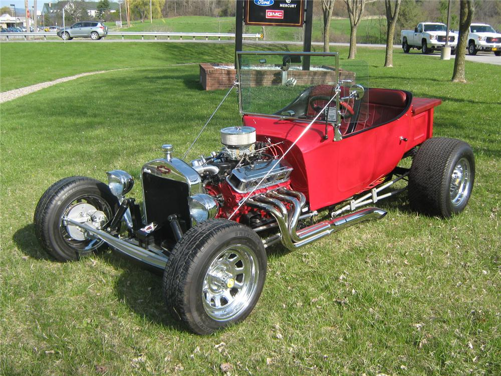 1927 CHEVROLET CUSTOM T-BUCKET ROADSTER - Front 3/4 - 96859