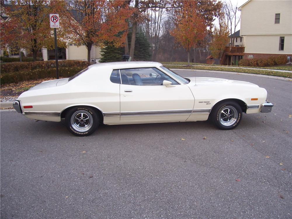 1973 FORD GRAN TORINO 2 DOOR HARDTOP - Side Profile - 96860