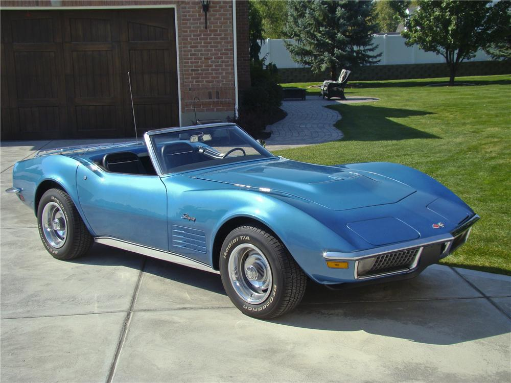1970 CHEVROLET CORVETTE CONVERTIBLE - Front 3/4 - 96866
