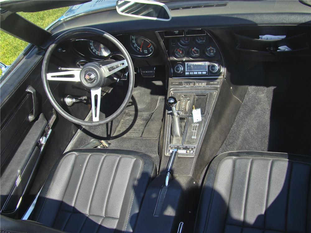 1970 CHEVROLET CORVETTE CONVERTIBLE - Interior - 96866