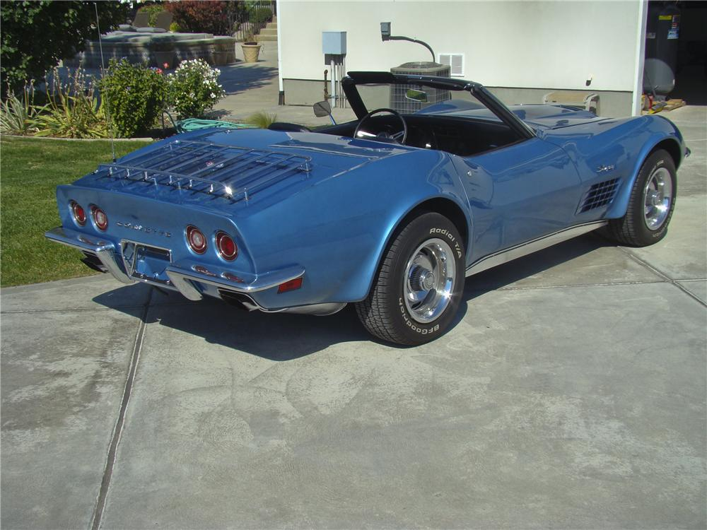 1970 CHEVROLET CORVETTE CONVERTIBLE - Rear 3/4 - 96866