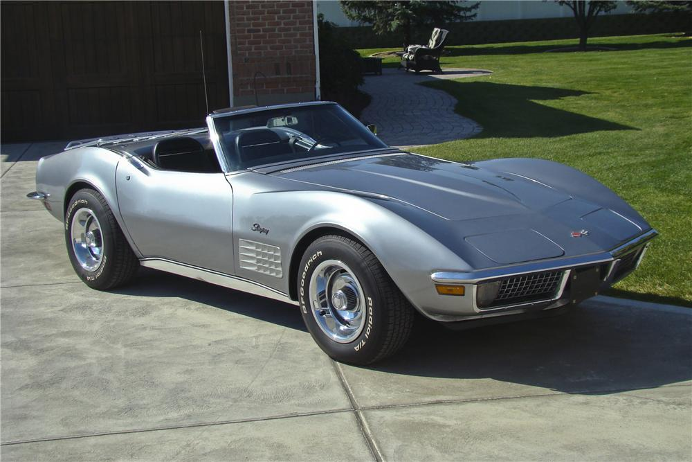 1970 CHEVROLET CORVETTE CONVERTIBLE - Front 3/4 - 96870