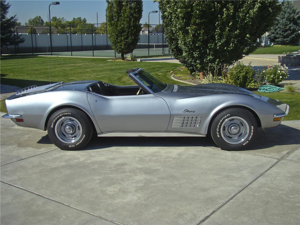 1970 CHEVROLET CORVETTE CONVERTIBLE - Side Profile - 96870