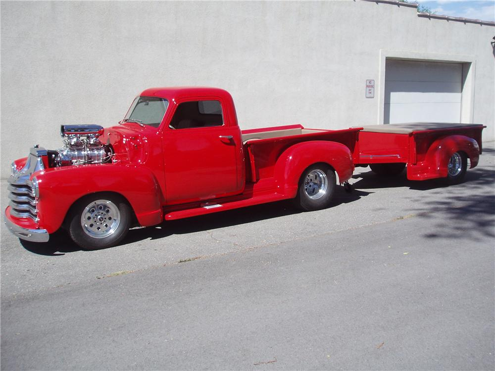 1951 CHEVROLET 3100 CUSTOM PICKUP - Side Profile - 96872