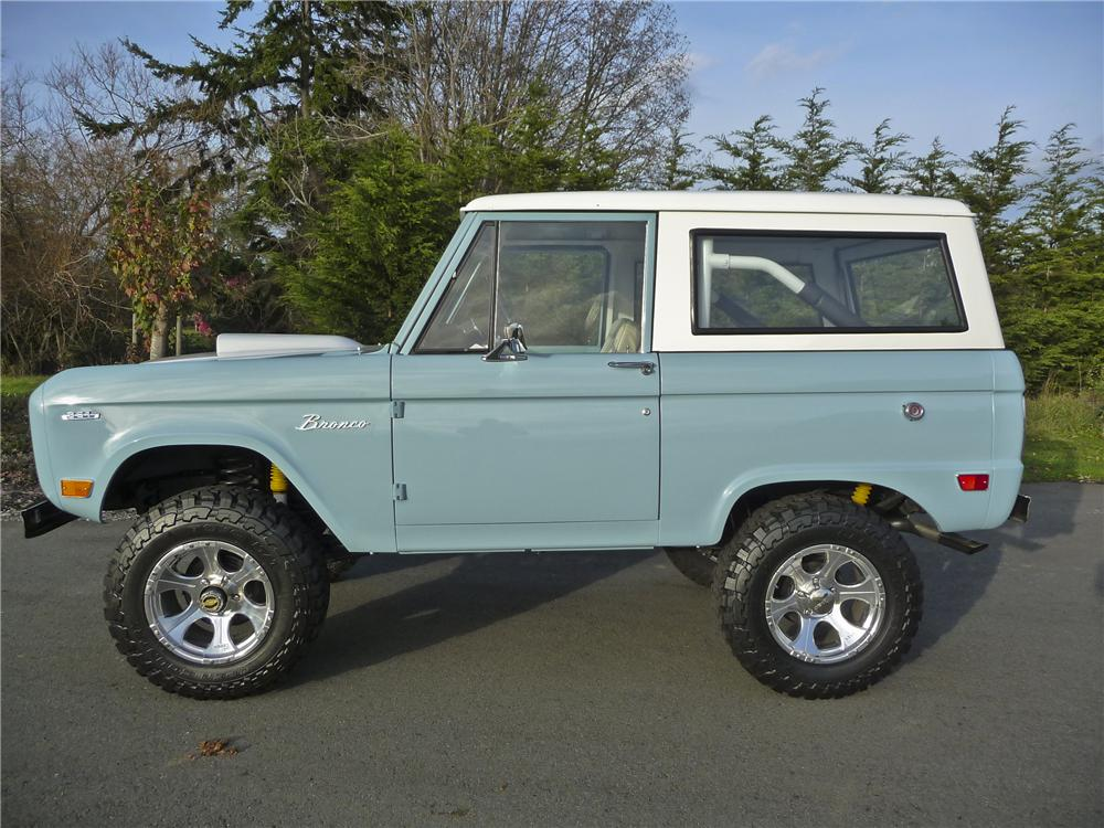 1968 FORD BRONCO CUSTOM 4X4 - Side Profile - 96883